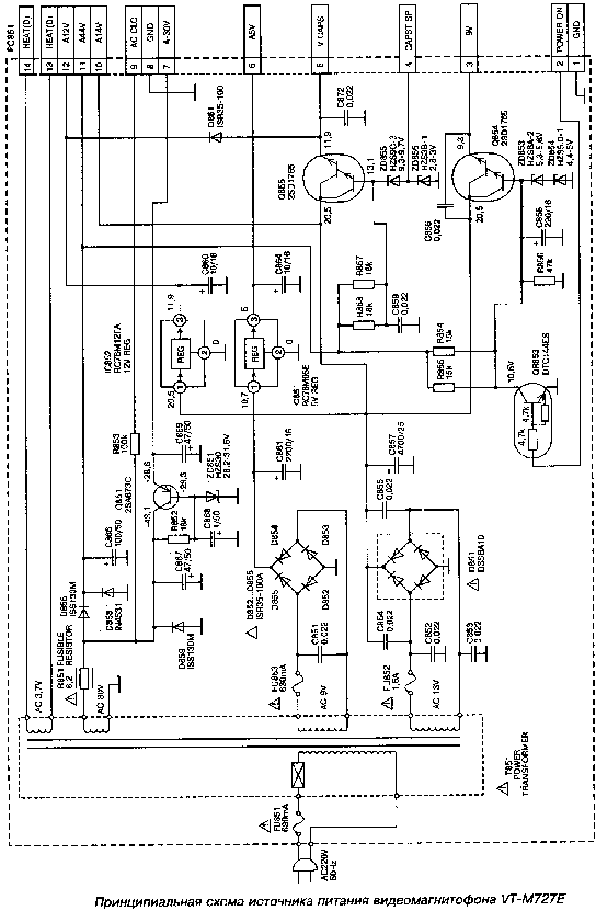 HITACHI VT-M727E Service Manual download, schematics