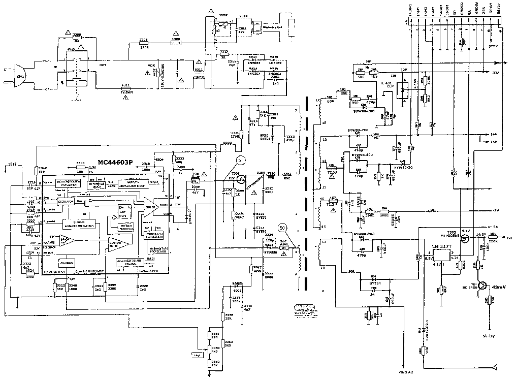 PHILIPS MC44603P Service Manual download, schematics