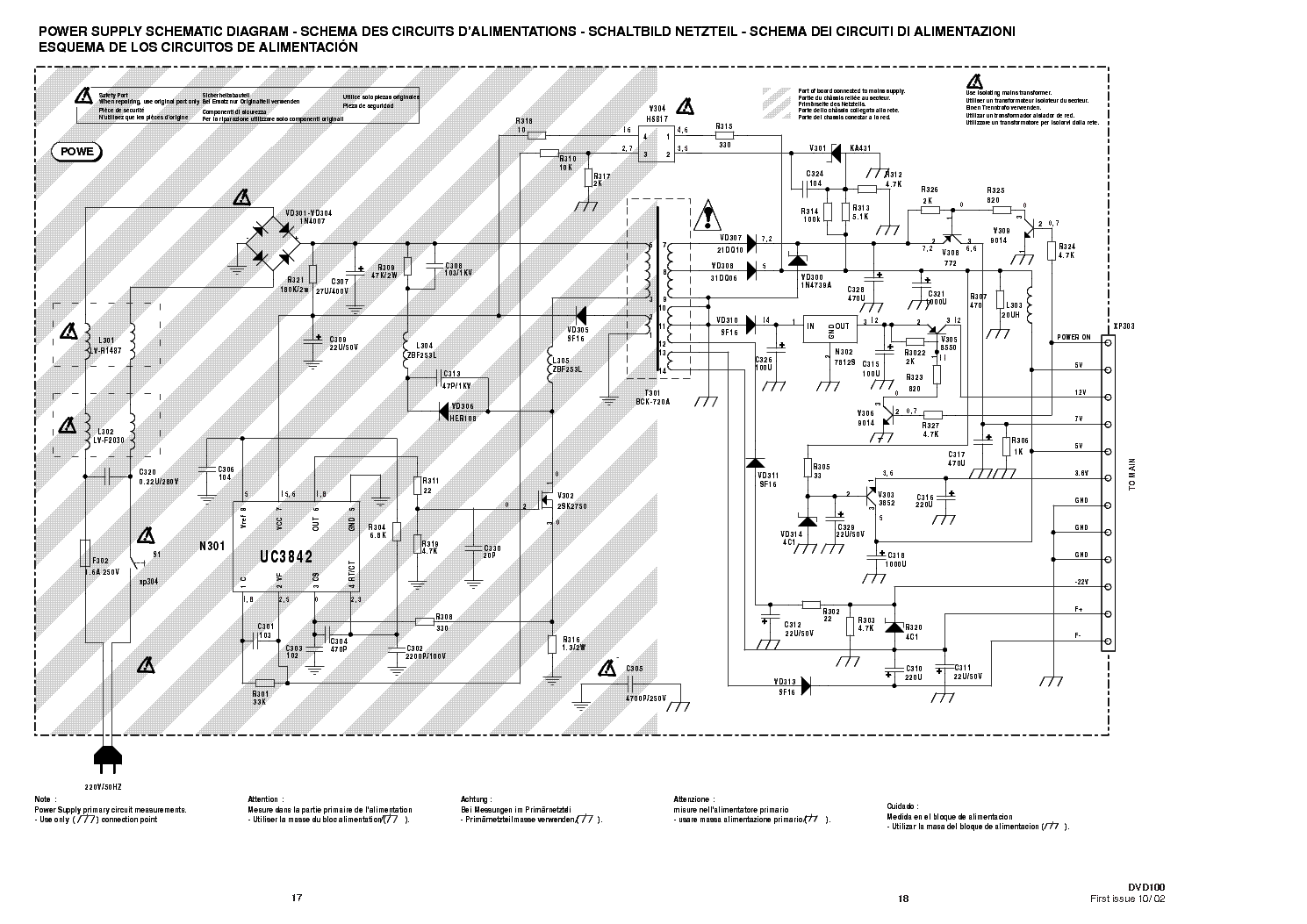 THOMSON MT35 CHASSIS POWER SCH Service Manual download