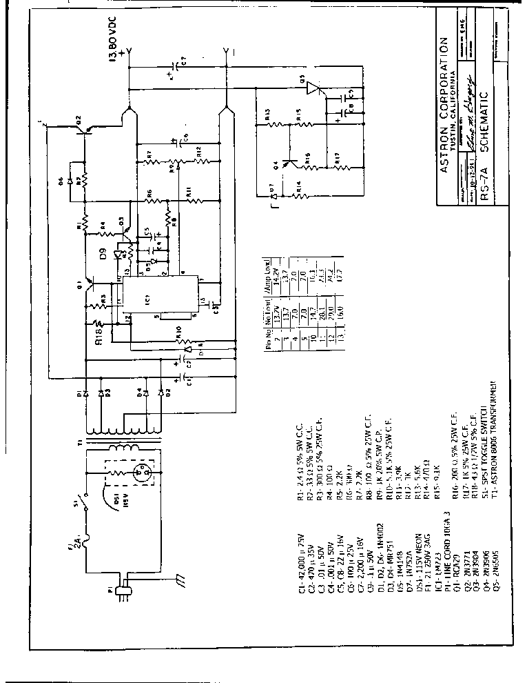 ASTRON RS12A Service Manual free download, schematics