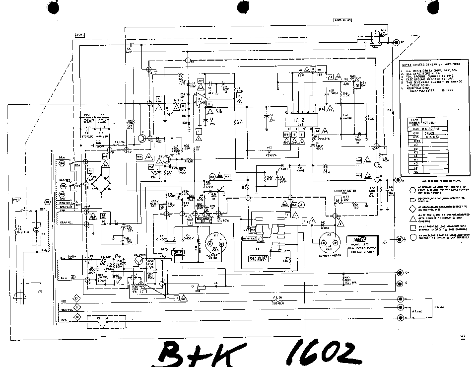 BK-PRECISION 1602 POWER SUPPLY SCH Service Manual download