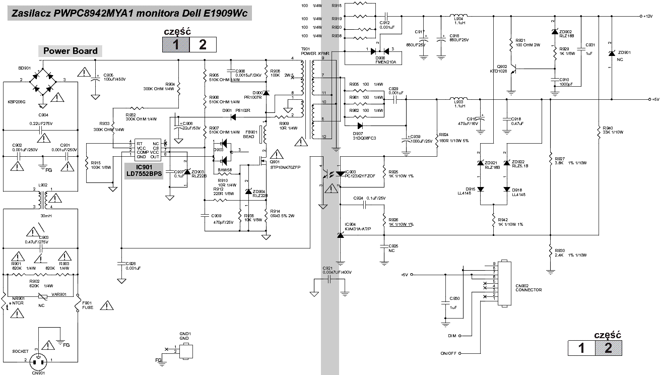 power supply schematic for dell optiplex 790