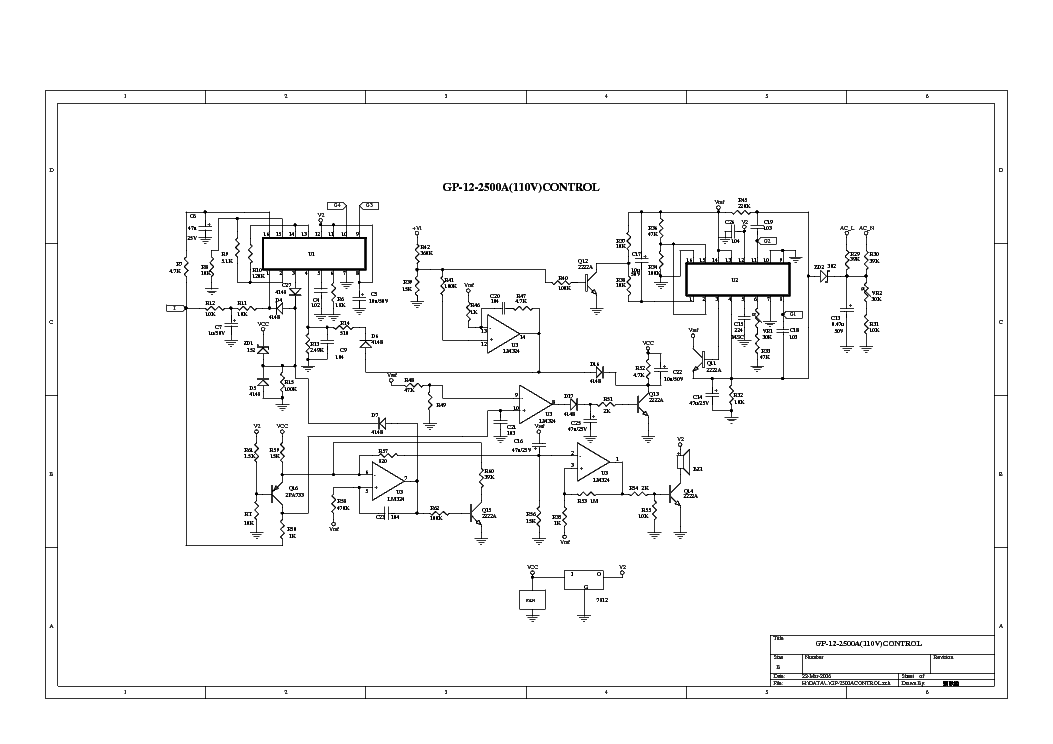 DROW ENTERPRISE GP-12-2500A POWER INVERTER SCH Service