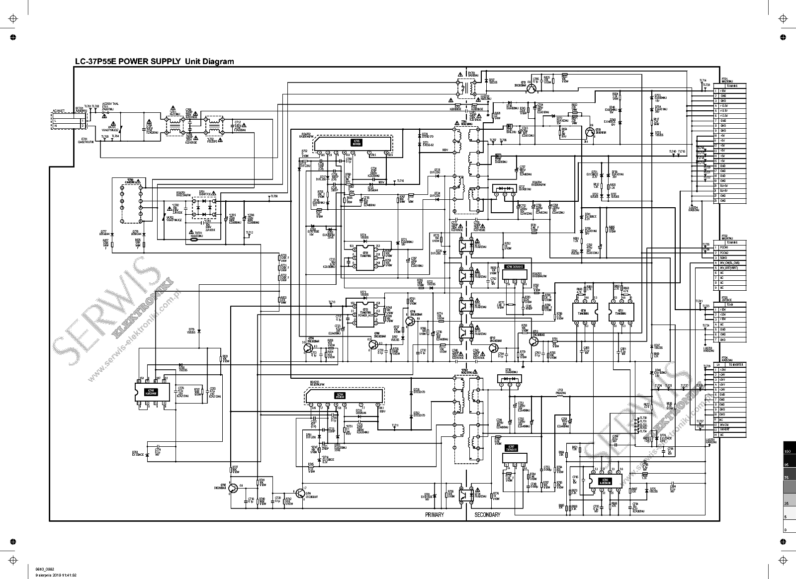 LC-37P55E INVERTER SCHEMATIC SCH Service Manual download