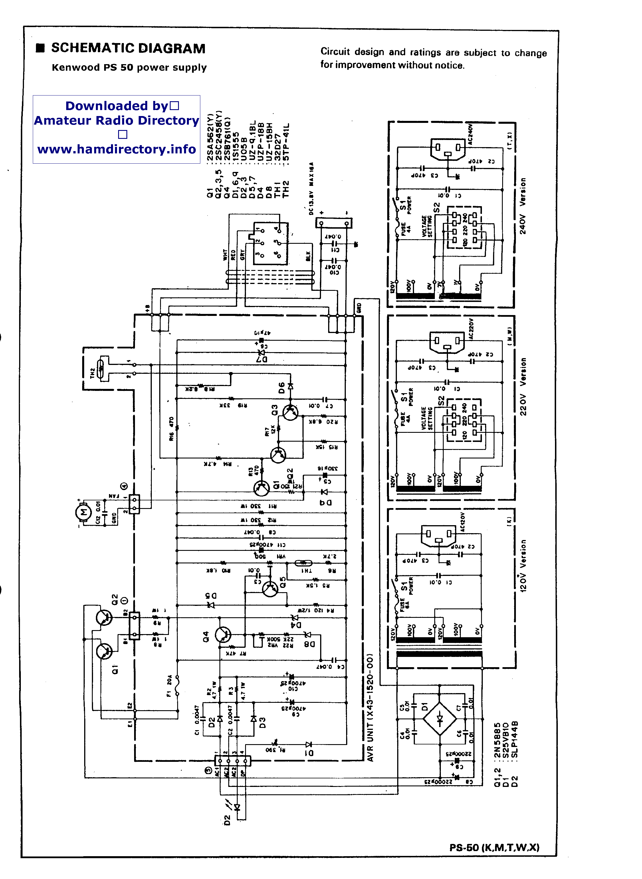 KENWOOD PS-510 SM Service Manual download, schematics