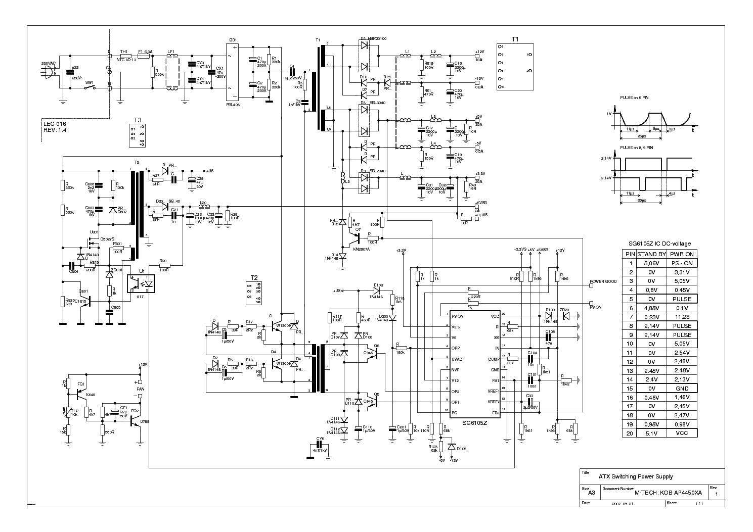 hight resolution of kobap4450xa 450w atx power supply schematic circuit diagram wiring wiring diagram for kobalt compressor kobap4450xa 450w