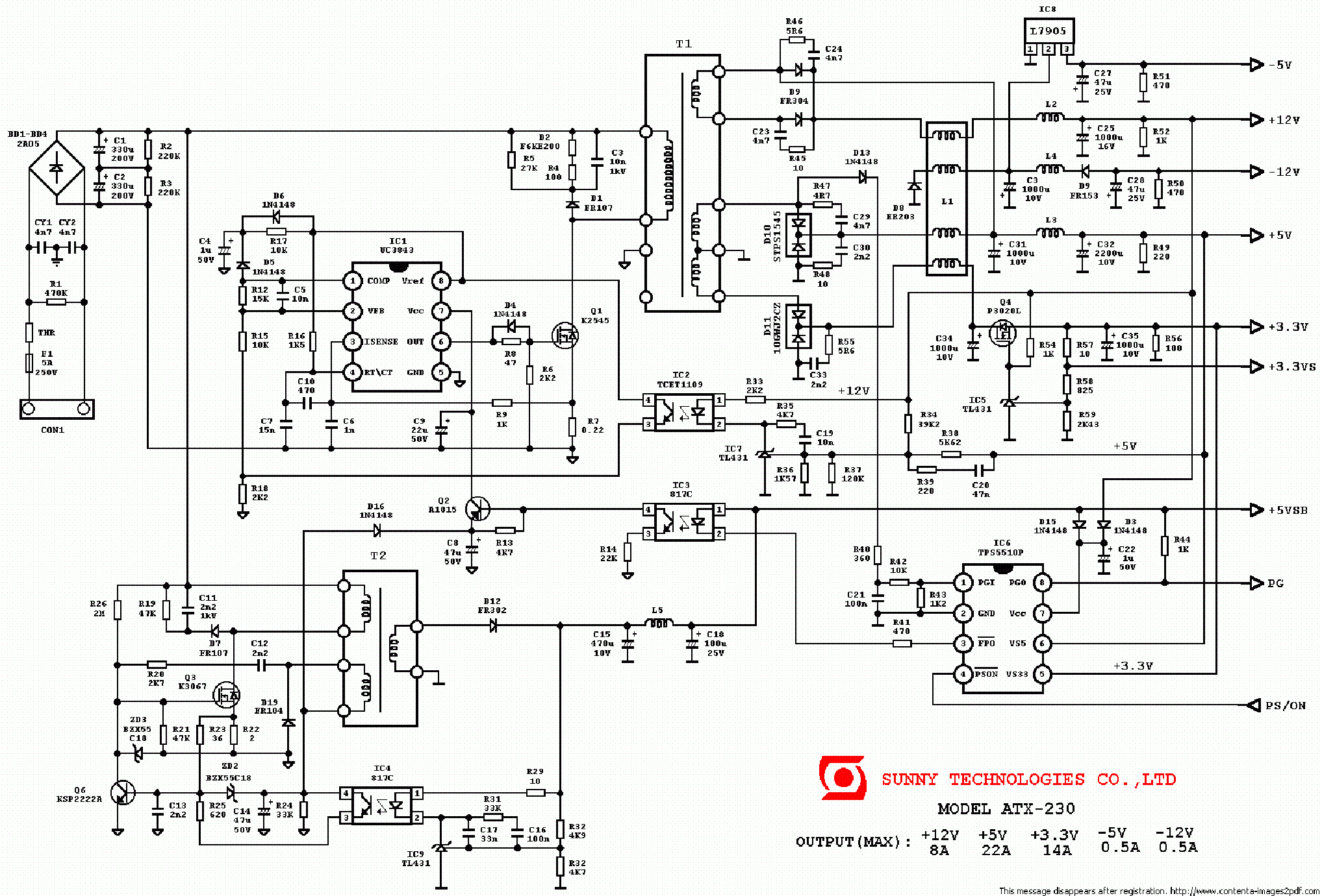 Pc Power Supply Wiring Diagram. Diagram. Auto Wiring Diagram