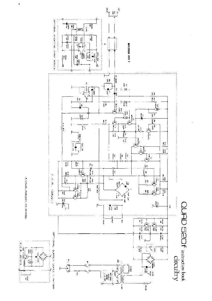 QUAD-520F POWER SCH Service Manual download, schematics