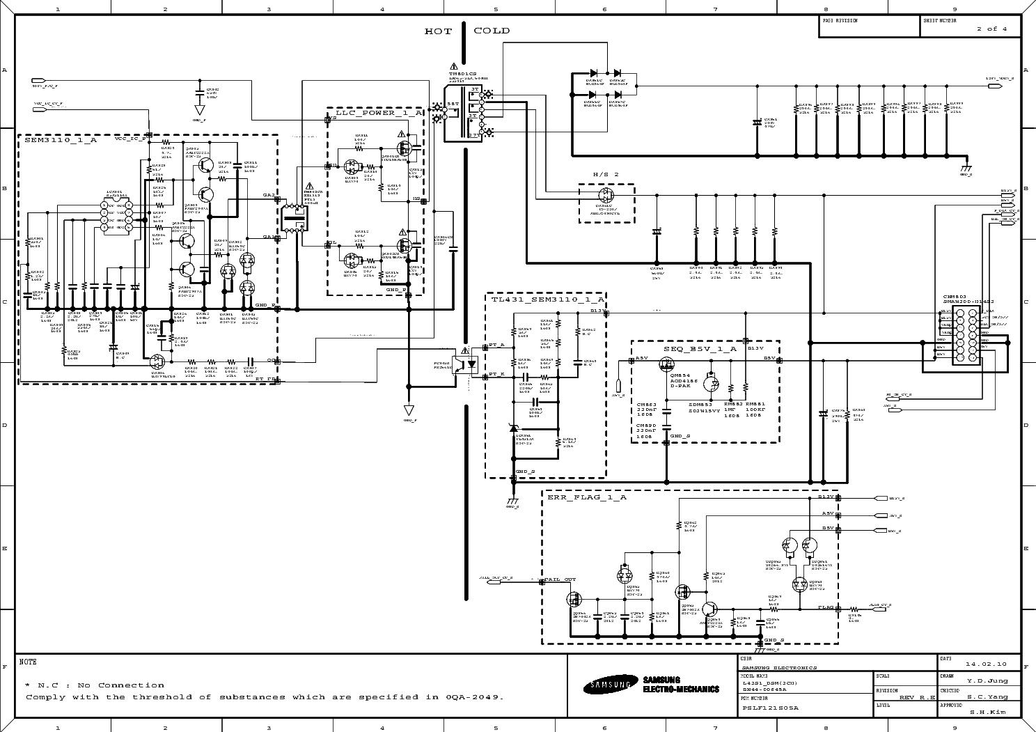 SAMSUNG BN44-00645A 40F5300 SMPS SCH Service Manual