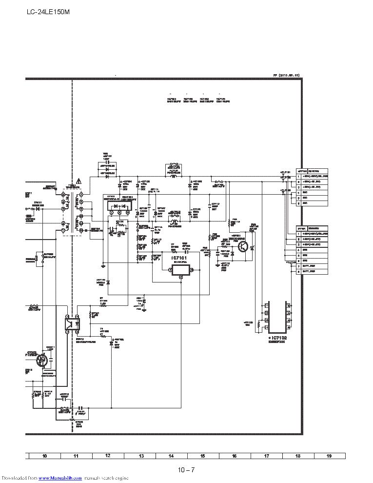 SHARP DUNTKG255FM02 LC-24LE150M PSU SCH Service Manual