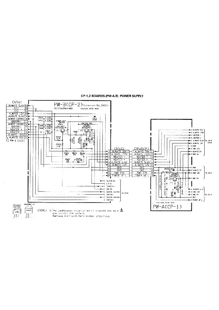 SONY SLV-626 POWER SCH Service Manual download, schematics