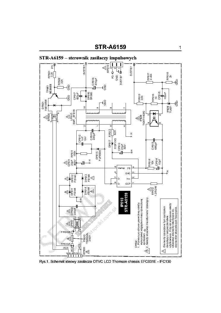 THOMSON EFC031E-IFC130 CHASSIS POWER SCH Service Manual