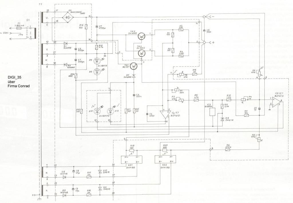 Voltcraft Labornetzgerät Digi 35. 0-30V/0-2,5A elföstölt