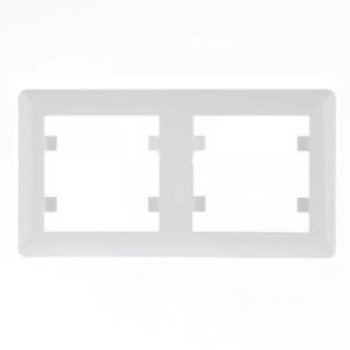 Okvir dvostruki Hager Lumina bijela Elektro Vukojevic