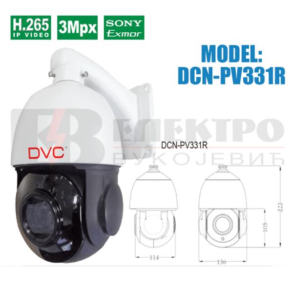IP upravljiva kamera rezolucije 3Mpx
