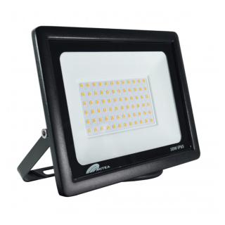 Eco LED reflektor 50W 3000K 4250lm Crni Mitea Elektro Vukojevic
