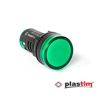 Signalna sijalica zelena fi22mm 220V Plastim Elektro Vukojevic