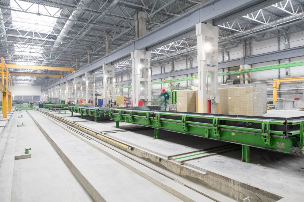 Elematic delivered precast wall panel production plant at Karkas Monolit in Nizhny Novgorod, Russia.