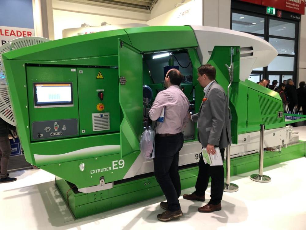 Elematic's new Extruder E9 was introduced in Bauma 2019 trade show.