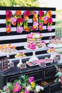 Ideas para la decoracin de un baby shower de nia