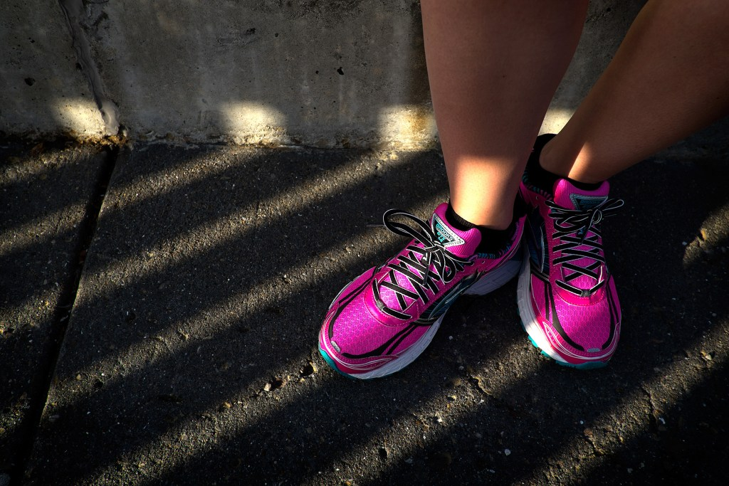 Karissa Bell reviews the new Brooks shoes. Photo: Jim Merithew/Element.ly