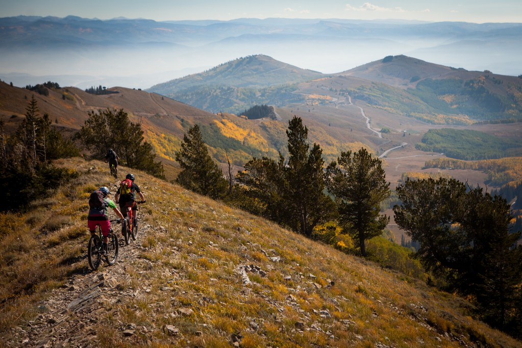 Just another beautiful stretch of singletrack in Park City, Utah.