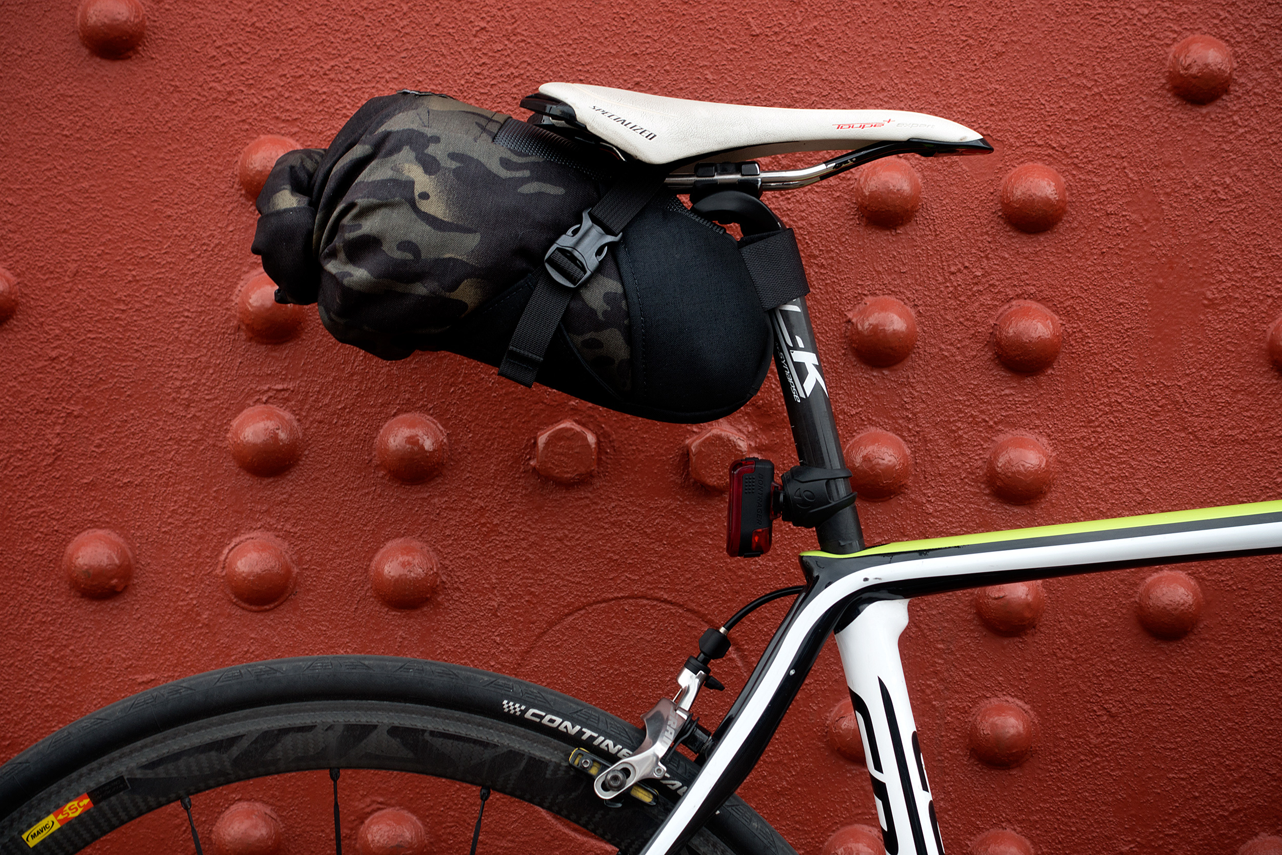 The Porcelain Rocket Charlene seat bag bring gear swallowing goodness to your bike. Photo: Jim Merithew/Element.ly