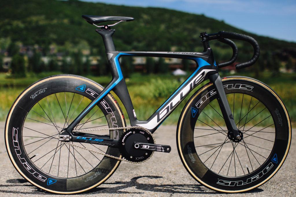 Blue Lehigh track bike. Photo: Stephen Lam/element.ly