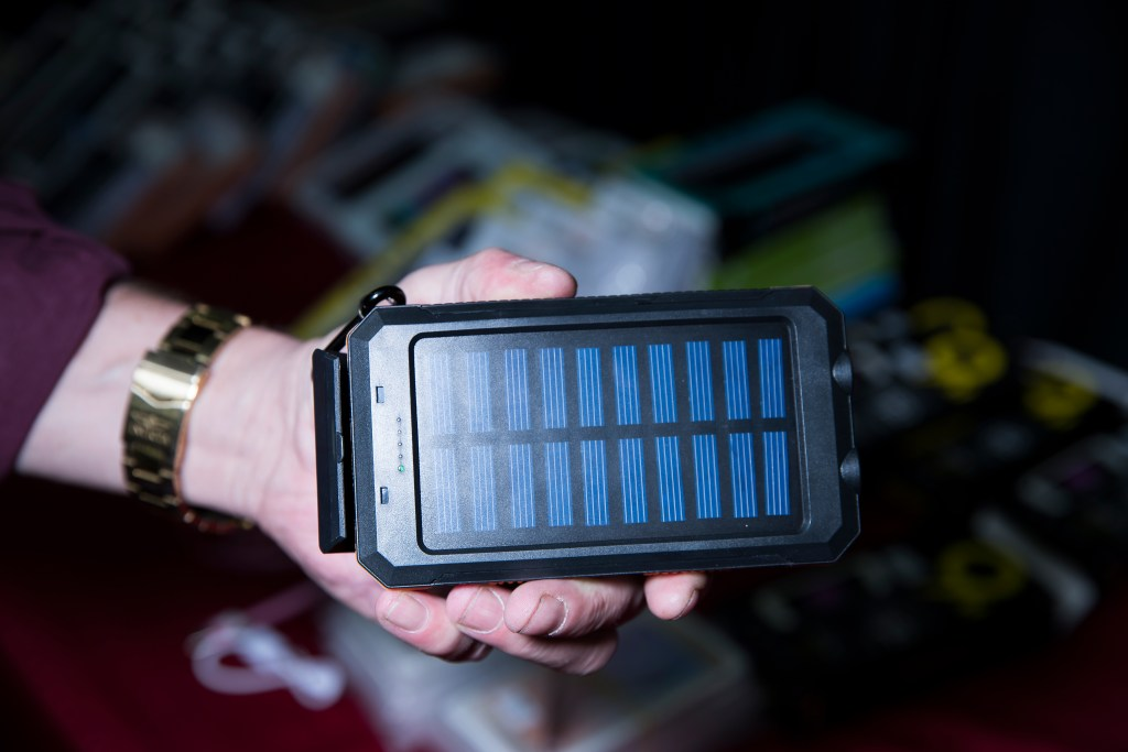 It's true. Someone tried to sell me this solar usb charger during the show. Photo:Stephen Lam/ element.ly