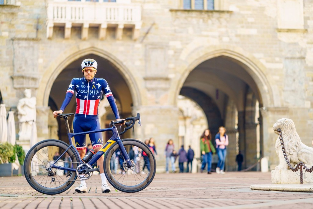 U.S. National Champ Larry Warbasse and his team-issue 3T Strada