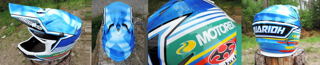 Ruaridh Cunningham Custom Kabuto Downhill Helmet details