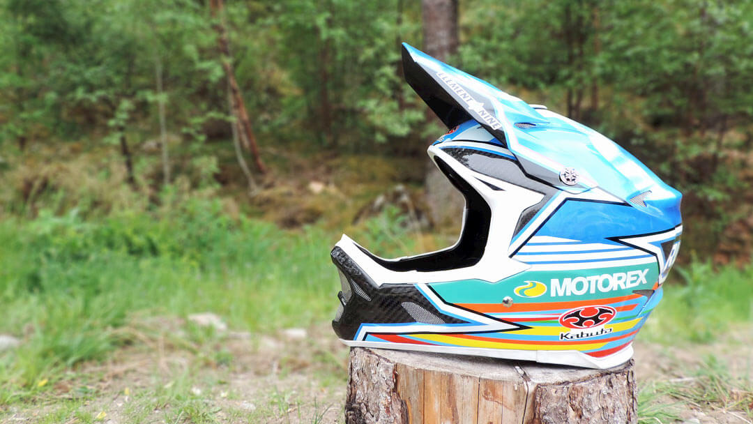 Ruaridh Cunningham's Custom Painted Kabuto Helmet