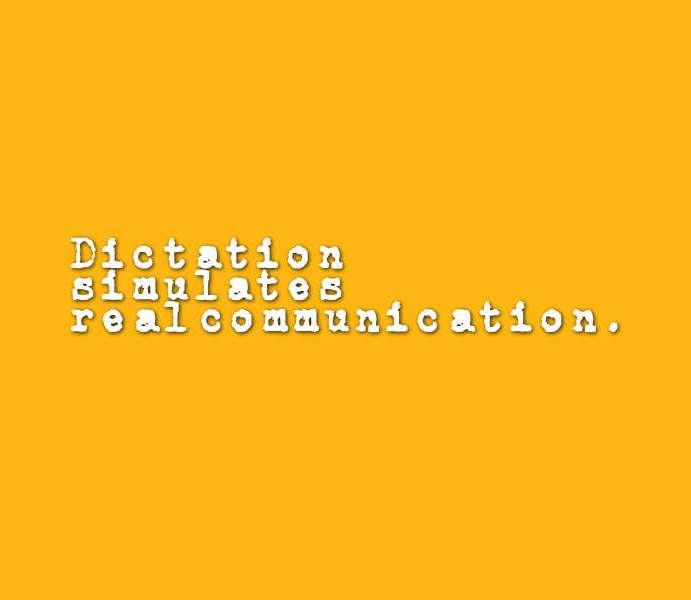 1 – The Dictation Algorithm