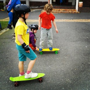 penny boards and skate lessons :)