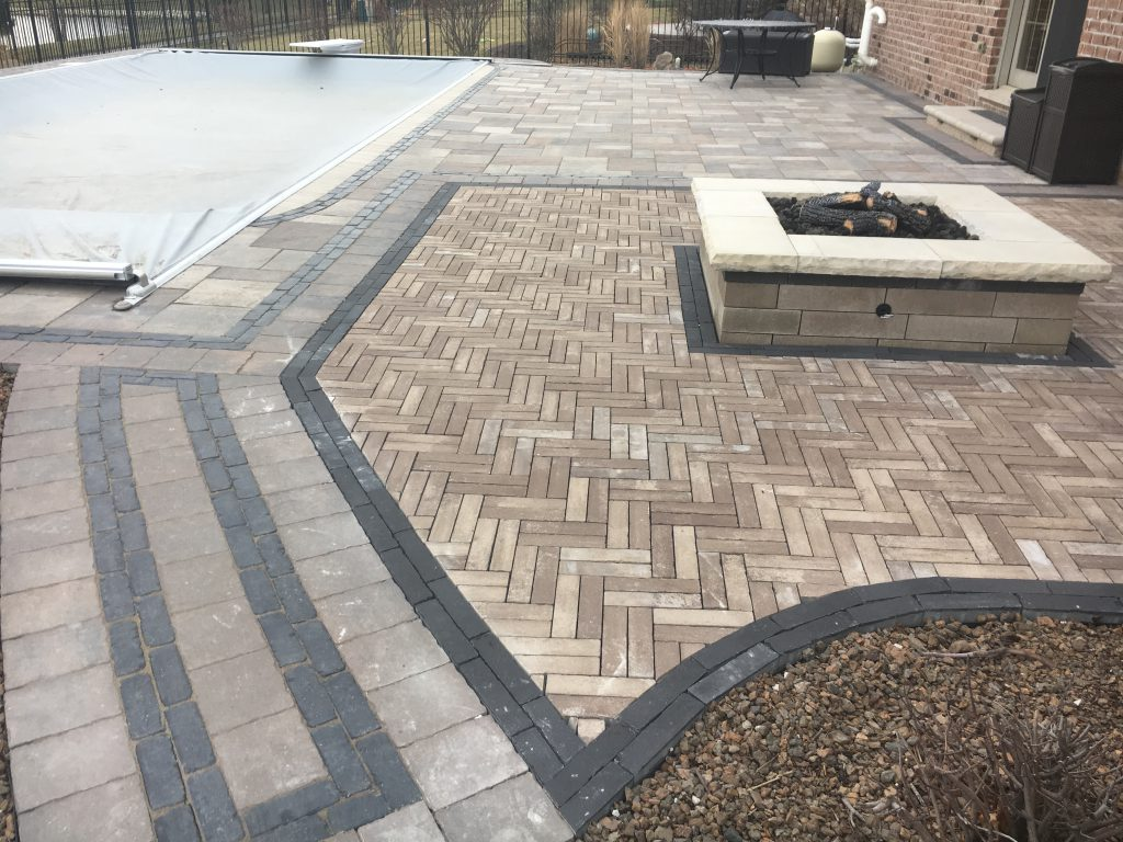 new lenox paver patio and fire pit