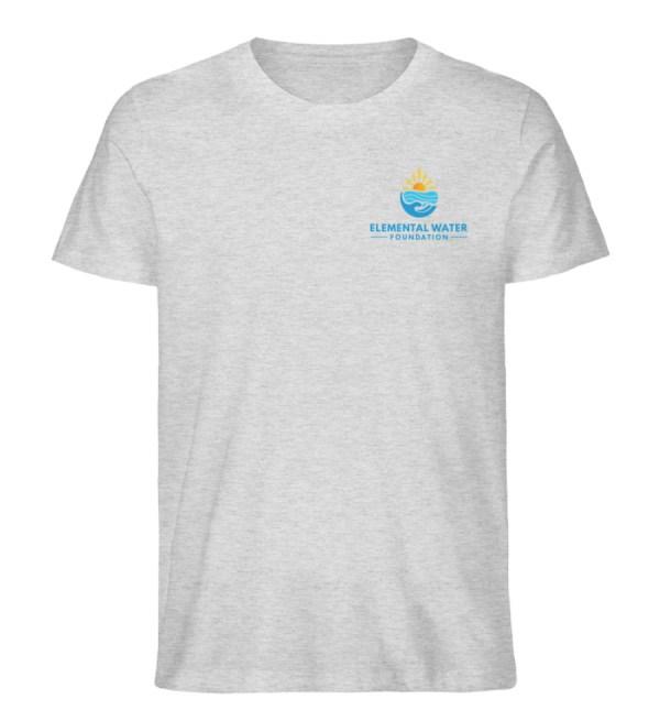 Organic T-shirt with Colourful Logo - Men Premium Organic Shirt-6892