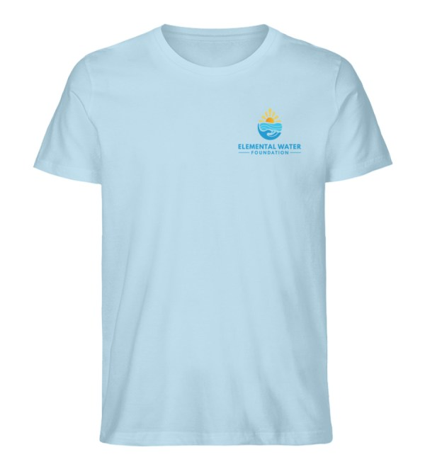 Organic T-shirt with Colourful Logo - Men Premium Organic Shirt-6888