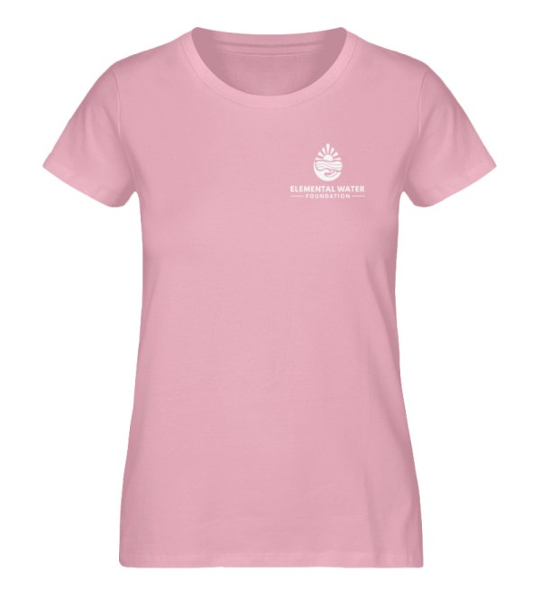 EWF White Logo - Ladies Premium Organic Shirt-6903