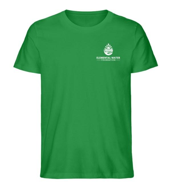 Organic T-shirt with White Logo - Men Premium Organic Shirt-6890