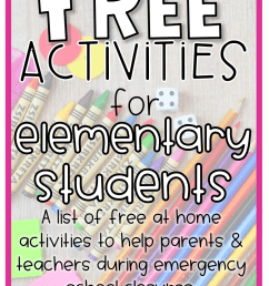 Free Activities for Elementary Students - Elementary at HEART [ 1302 x 912 Pixel ]