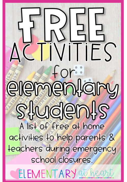 small resolution of Free Activities for Elementary Students - Elementary at HEART