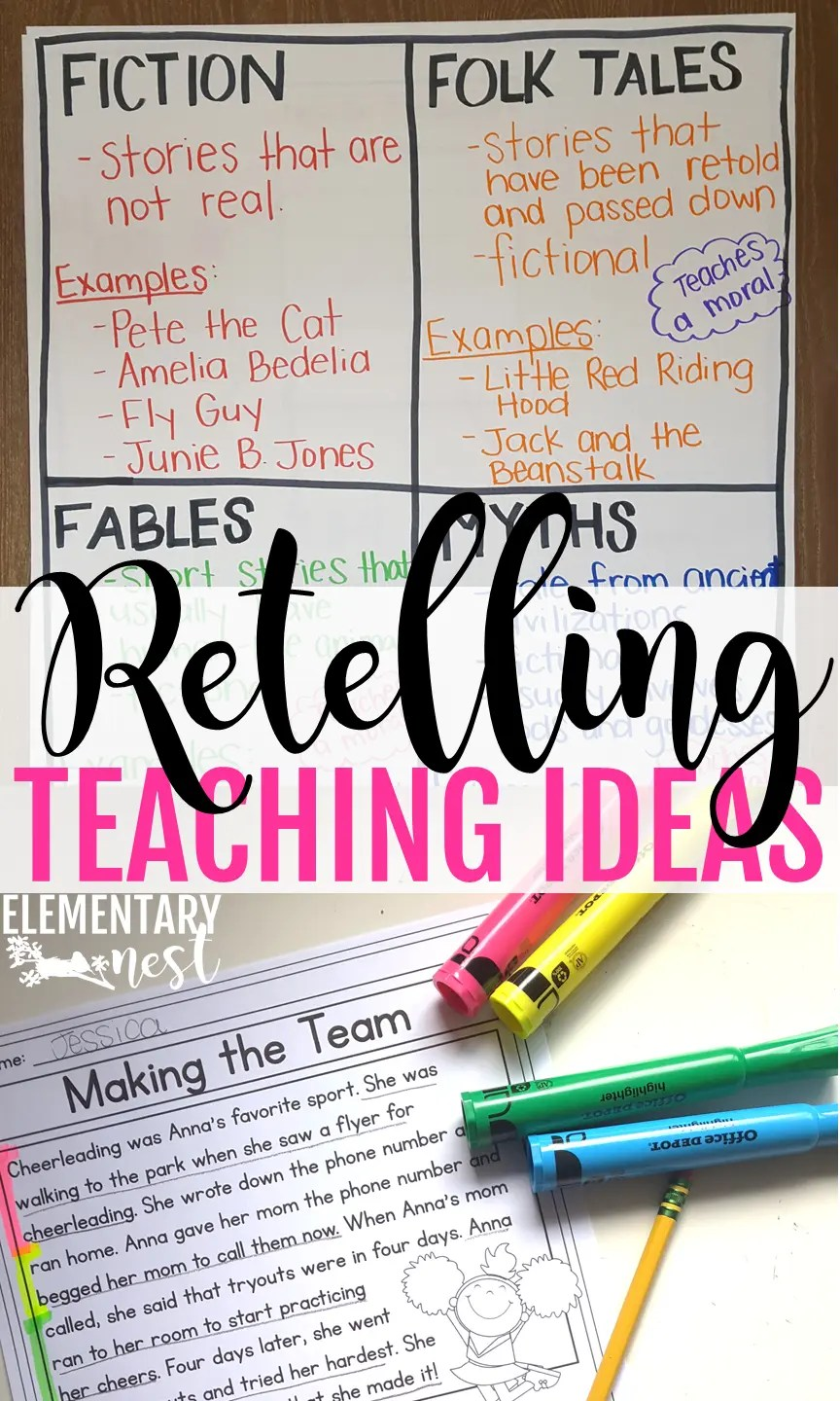 hight resolution of Retelling \u0026 Recounting Stories: Exploring ELA - Elementary Nest
