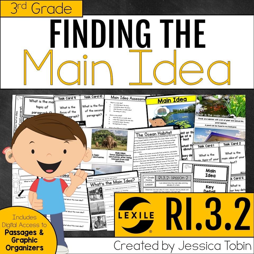 hight resolution of Main Idea and Main Topic (Exploring ELA) - Elementary Nest