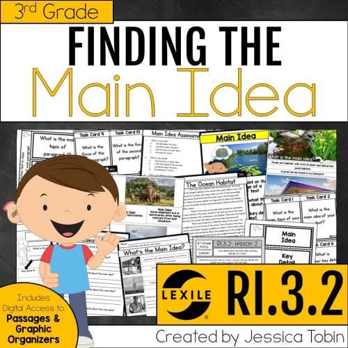 small resolution of Main Idea and Main Topic (Exploring ELA) - Elementary Nest