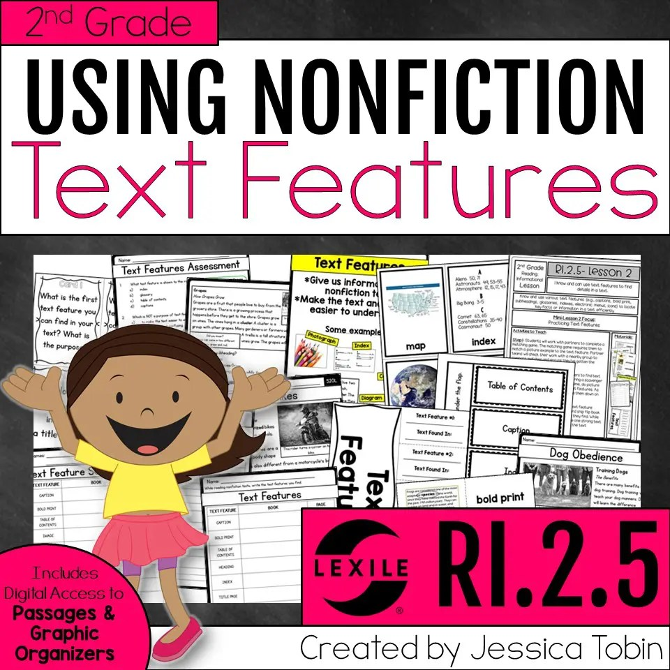 hight resolution of Teaching Text Features (Exploring ELA) - Elementary Nest
