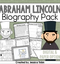 Abraham Lincoln Biography Pack - Elementary Nest [ 960 x 960 Pixel ]