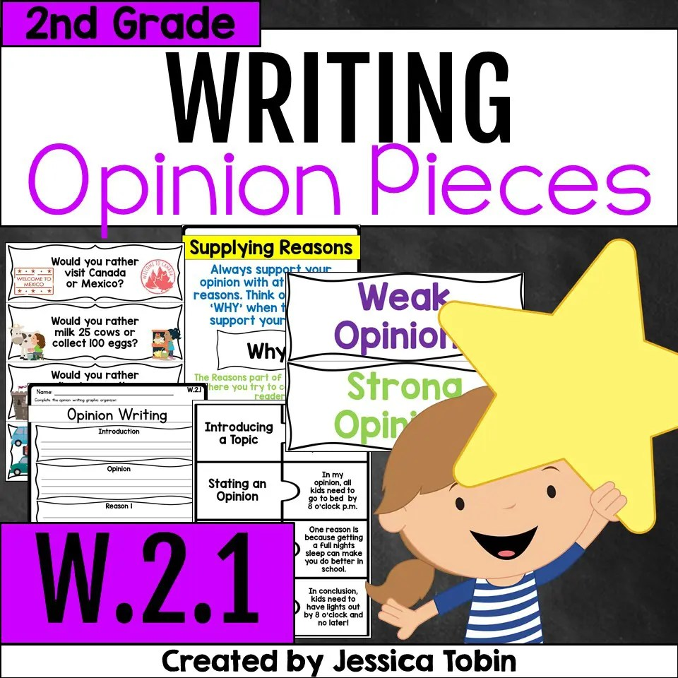 hight resolution of W.2.1- Opinion Writing 2nd Grade - Elementary Nest