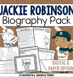 Jackie Robinson Biography Pack - Elementary Nest [ 960 x 960 Pixel ]