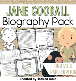 Jane Goodall Biography Pack - Elementary Nest [ 960 x 960 Pixel ]