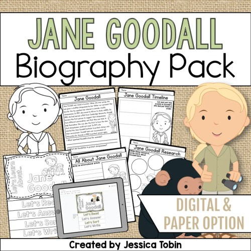 small resolution of Jane Goodall Biography Pack - Elementary Nest